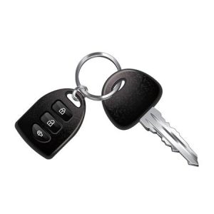 Car Fob with Key on Key Ring