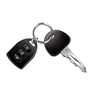 Car Fob with Key on Key Ring
